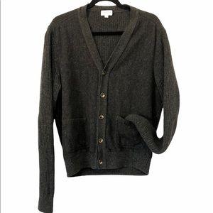 Club Monaco Italian Yarn Wool Thick Knit Cardigan